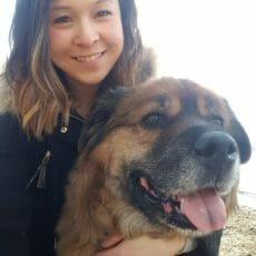Brittney and dog